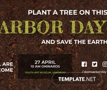 Free Arbor Day Twitter Header Cover Template