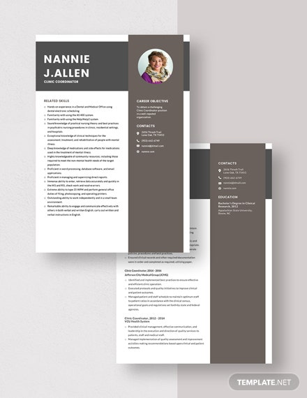 Clinic Coordinator Resume Download