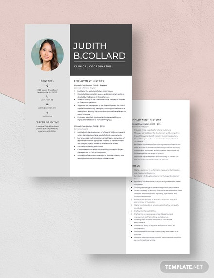 Clinical Coordinator Resume Download