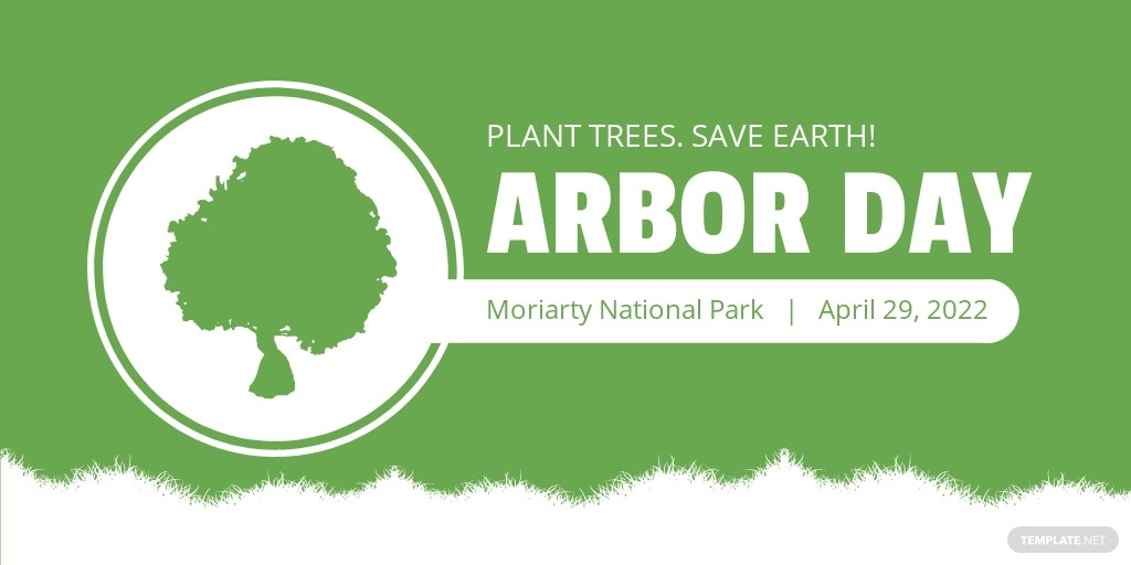 Arbor Day Twitter Post Template