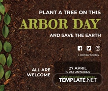 Free Arbor Day Twitter Post Template