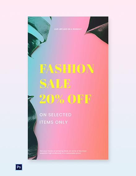 Free Basic Fashion Sale Whatsapp Image Template