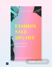 Free Basic Fashion Sale Whatsapp Image Template