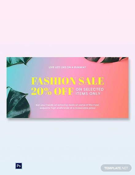 Basic Fashion Sale Blog Post Template [Free PSD]