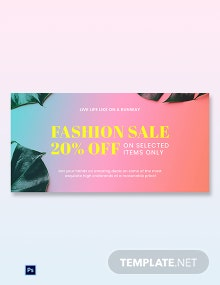 Free Basic Fashion Sale Blog Post Template