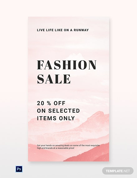 Free Blank Fashion Sale Whatsapp Image Template