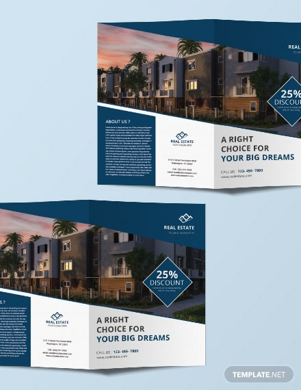 Free Real Estate Bi-fold Brochure Template