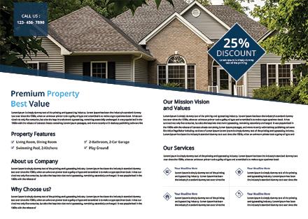 Free Real Estate Bi-fold Brochure Template