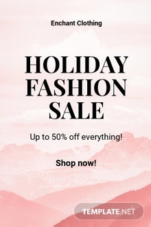 Free Blank Fashion Sale Tumblr Post Template