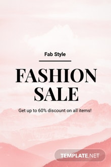 Free Blank Fashion Sale Pinterest Pin Template