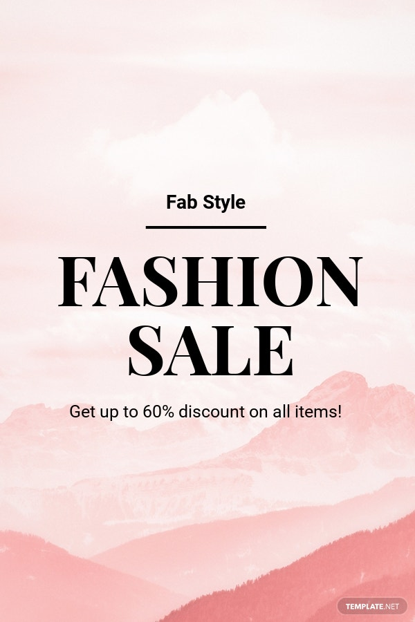 Free Blank Fashion Sale Pinterest Pin Template.jpe