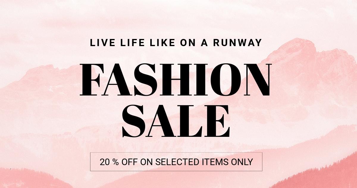 Blank Fashion Sale LinkedIn Blog Post Template.jpe