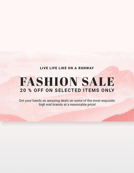 Blank Fashion Sale LinkedIn Blog Post Template [Free PSD]