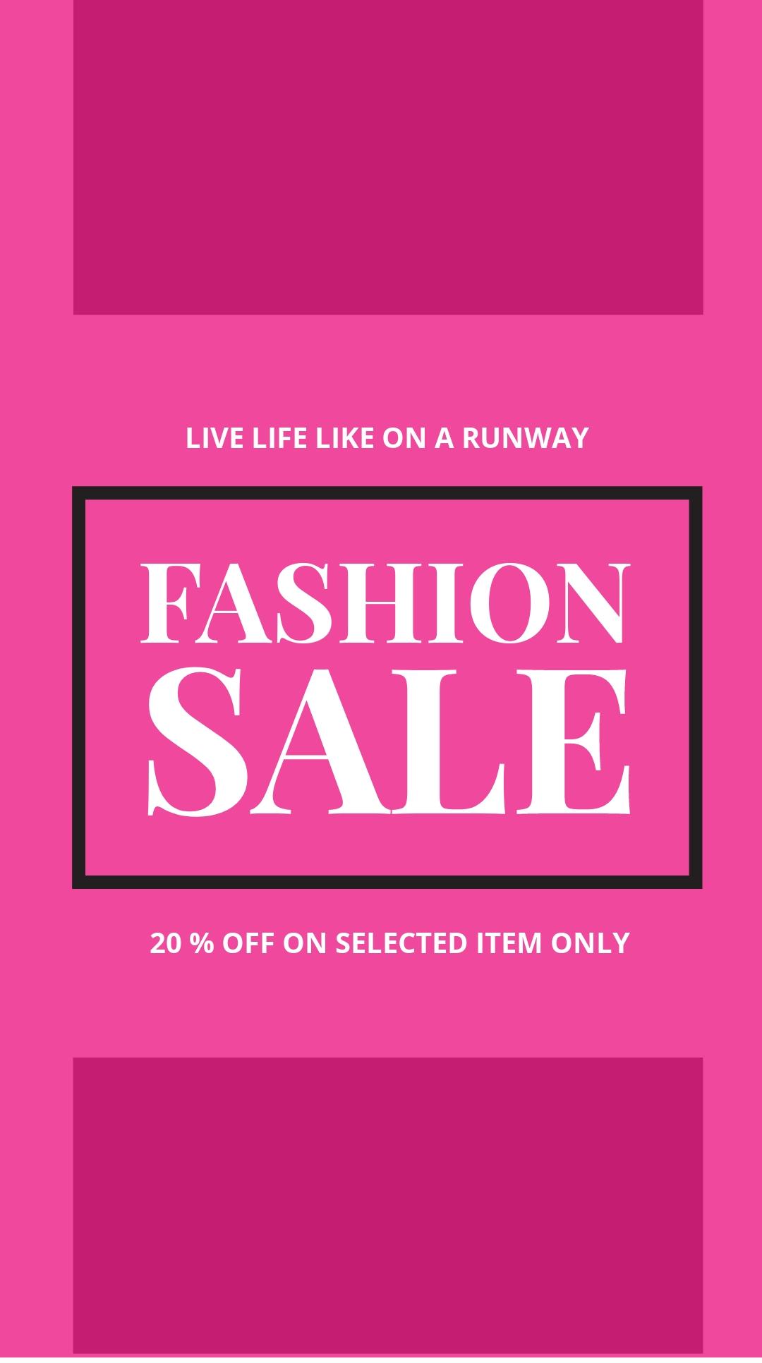 Free Blank Fashion Sale Instagram Story Template