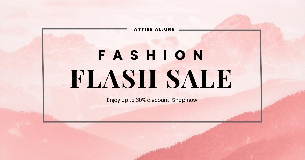 Free Blank Fashion Sale Facebook Post Template.jpe