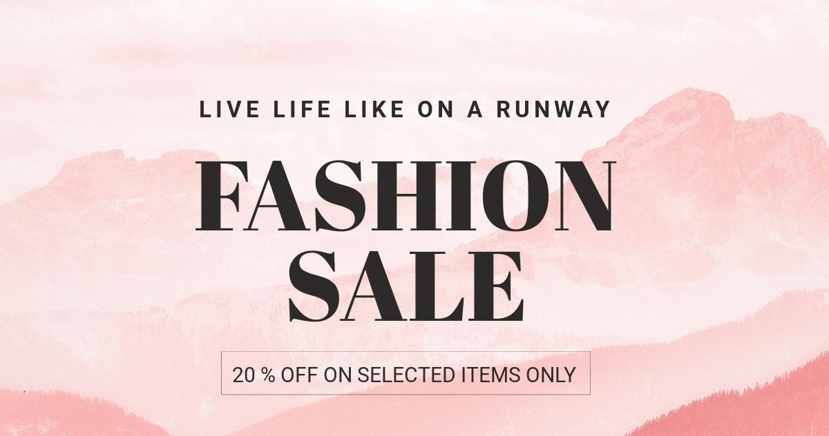 Blank Fashion Sale Blog Post Template.jpe