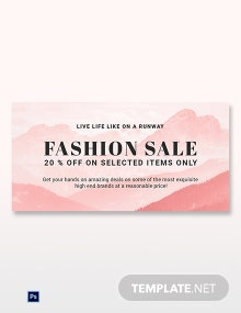Free Blank Fashion Sale Blog Post Template