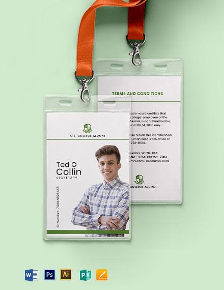 Alumni Association ID Card Template