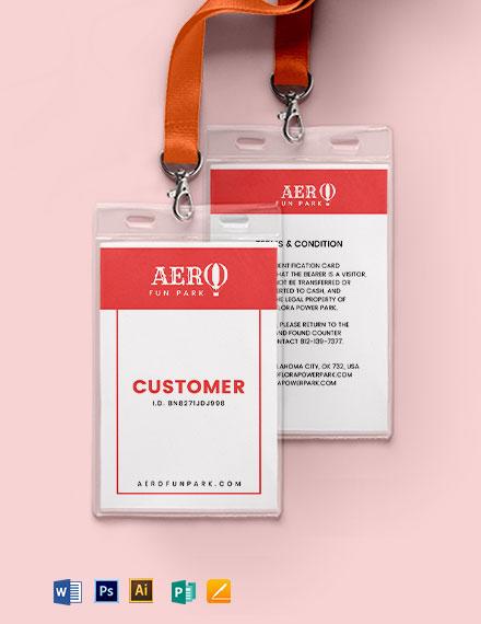 Amusement Park ID Card Template