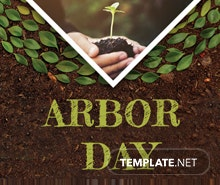 Free Arbor Day Twitter Profile Photo Template