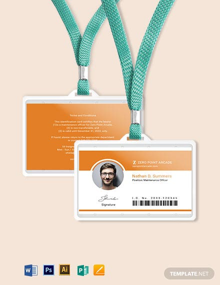 Arcade ID Card Template