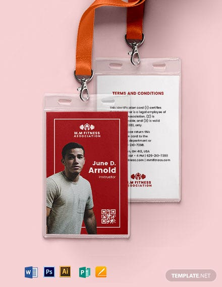 Association ID Card Format Template
