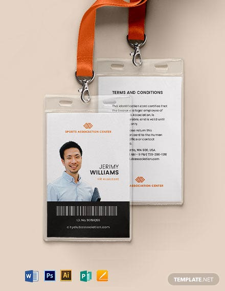Association Membership ID Card Template