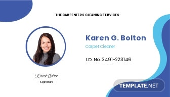 Carpet Cleaning ID Card Template.jpe