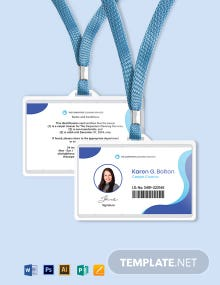 Carpet Cleaning ID Card Template