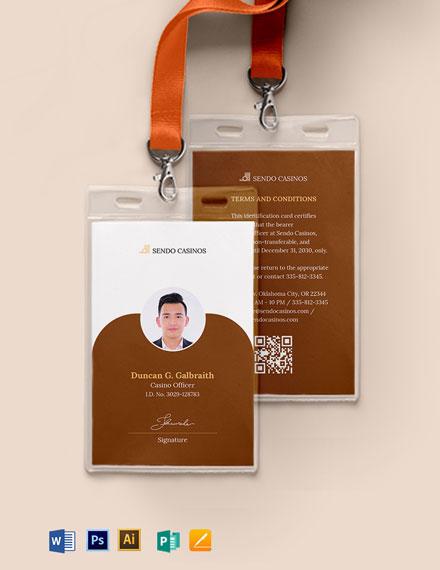 Casino ID Card Template
