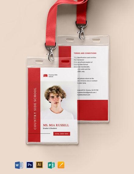 Charter School ID Card Template