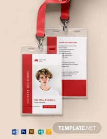 Charter School ID Card Template