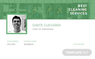 Cleaning Service ID Card Template.jpe