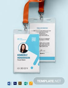 House Cleaner ID Card Template