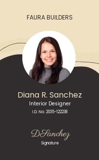 Interior Designer ID Card Template