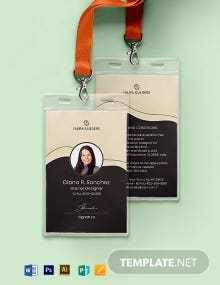Interior Designer ID Card Template