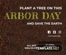 Free Arbor Day YouTube Channel Cover Template
