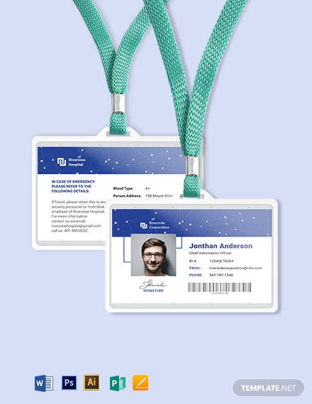 IT ID Card Template