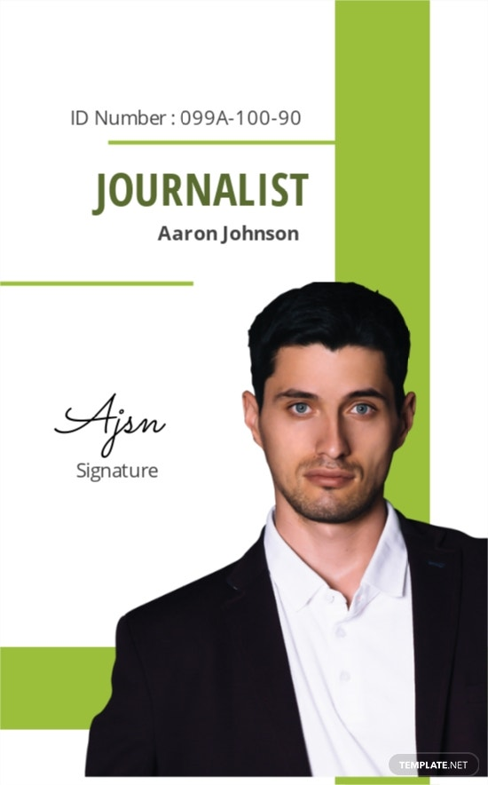 Journalist ID Card Template
