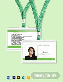 Landscape ID Card Template