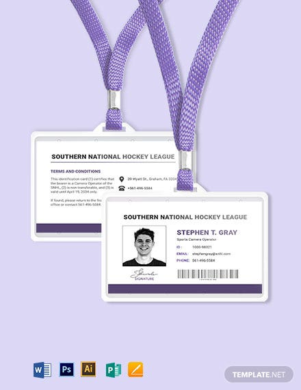 League ID Card Template