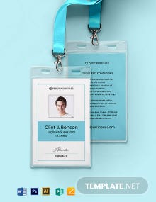 Logistics ID Card Template