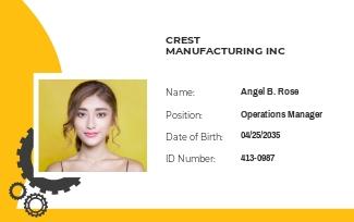 Manufacturing ID Card Template