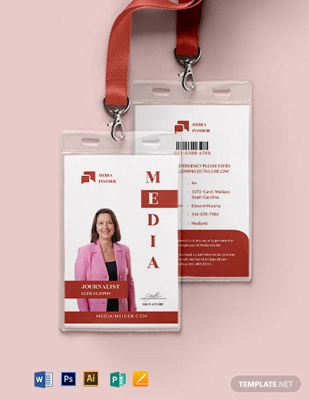 Media ID Card Template