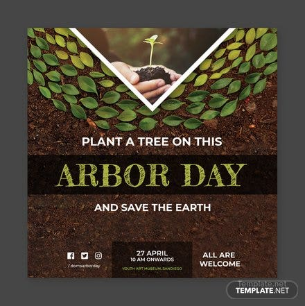 Free Arbor Day YouTube Profile Photo Template