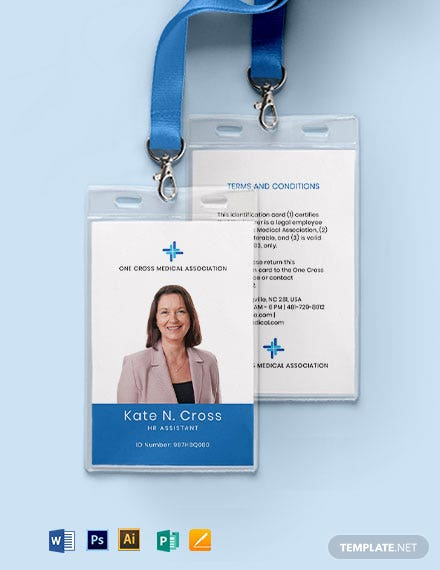 Medical Association ID Card Template
