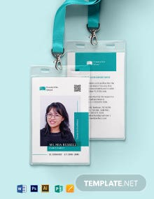 Middle School ID Card Template