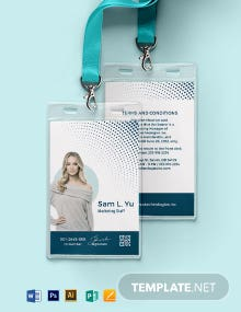 Modern Employee ID Card Template