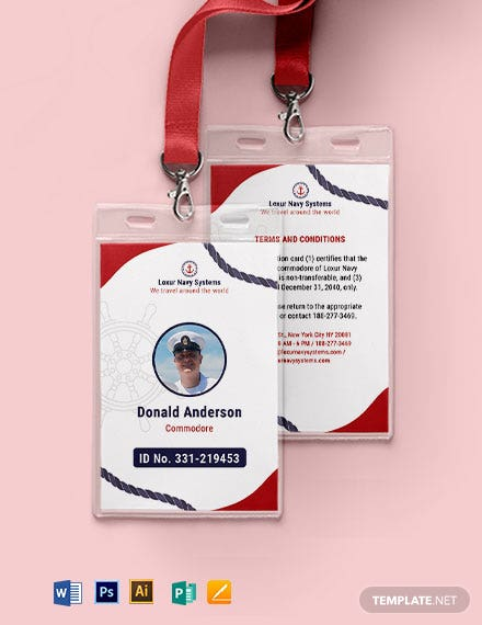 Navy ID Card Template