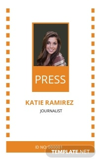 Official Press ID Card Template